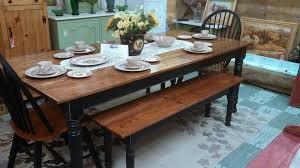 long farmhouse dining table with bench farmhouse design and in farmhouse kitchen table with bench regarding