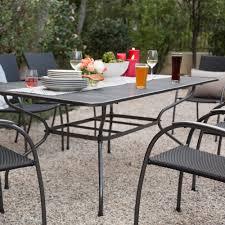 metal rectangular outdoor dining table. ludwig rectangle patio dining table (seats six), metal mesh top rectangular outdoor b
