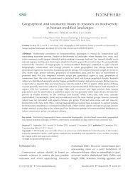 Geographical and taxonomic biases in research on biodiversity in ...