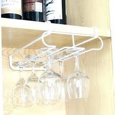 under cabinet hanging shelf wine cup glass holder rack pottery barn c37 rack