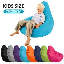 Big Sale Cheap Kids Bean Bag Sofa Chair Cover Lounger Bank Poef