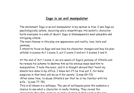 othello iago is an evil manipulator gcse english marked by document image preview