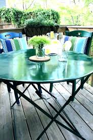 glass patio table set makeover from making the world outdoor glass patio table set round