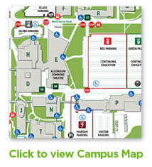 plimentary parking available lots 8 and 9 image link to algonquin college