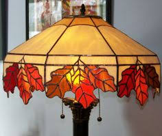 colored glass lighting. Oak Leaf Lamp - From Delphi\u0027s Artist Gallery. Stained Glass Colored Lighting