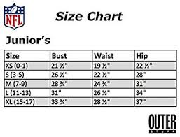Nfl Size Chart Nfl Womens Juniors Glitzy Pass Velour Full Zip Hoodie