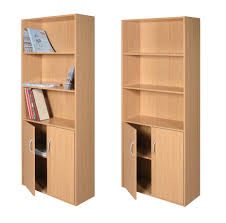 l lacquered birch wood bookcase cabinet with storage shelves 930x919