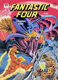 fantastic four coloring book sc 1970 1980 whitman wh 1030