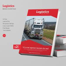 attractive logistics a4 ebook cover page template ebookcoverpages