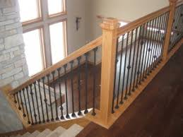 wood banisters and railings custom wood railings mn minneapolis finish  carpentry . wood banisters and railings ...