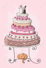 Wedding Cake Cartoon Royalty Free Cliparts Vectors And Stock Cartoon Wedding Cake