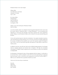 Cover Letter For Manufacturing Sarahepps Com