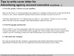 Sample Advertising Account Executive Cover Letter Advertising Agency Account Executive Cover Letter