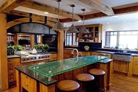 green glass countertop