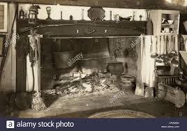 Colonial Kitchen Colonial Kitchen Cooking Fireplace Stock Photo Royalty Free Image
