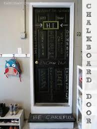 chalkboard door garage entry