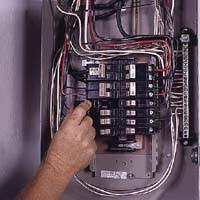 backup generator with a transfer switch for power outage Wiring Generator To Breaker Box 5 with hot wires disconnected, carefully pry each circuit breaker from its slot on the panel's hot bus wiring generator to circuit breaker box