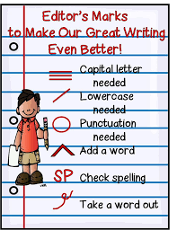 best editing marks ideas editing symbols  first grade wow how s my writing