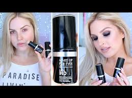 australia where make up for ever hd stick foundation first impression review