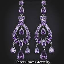 get purple chandelier earrings aliexpress lighting ideas