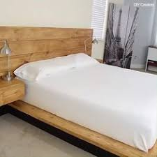 Platform bed with floating nightstands Headboard Amazing Diy Platform Bed With Floating Night Stands Credit Diy Creators Pinterest Diy Platform Bed With Floating Night Stands ตกแตงภายใน