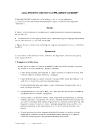 Marketing Agreement Template Email Marketing and Campaign Agreement If you are going to perform 1