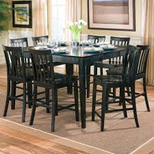 black counter height dining room sets. pines 7 pc counter height dining set in black (table, 6 chairs) - coaster co. room sets a
