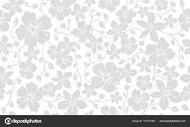 シンプルなシルエット古典的な花柄シームレス パターン花飾りの