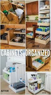 Space Saving Cabinet Remodelaholic Convenient And Space Saving Cabinet Organizing Ideas