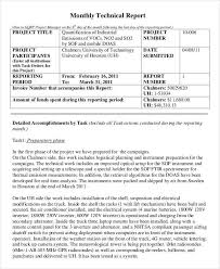 Engineering Technical Report Template 10 Inspirational Technical Report Example Todd Cerney