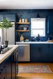 Light Blue Herringbone Tile 14 Kitchens With Herringbone Tile Backsplashes