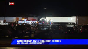 4 People Injured After Tractor Trailer Blew Over Due To Wind