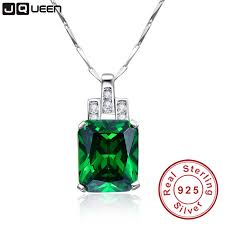 high quality emerald necklace jewelry 6 95ct pendant necklace vintage silver 925 sterling chain jewelry accessories best friend