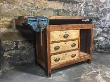 vintage wooden furniture. wonderful wooden antique workbench with vise storage drawers industrial furniture vintage  wood in wooden
