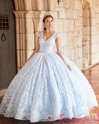 Light Blue And White Dress White Light Blue Quinceanera Dress Pr21954whlb