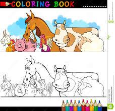 Animales De La Granja Y Del Ganado Para El Colorante Ilustraci N Del