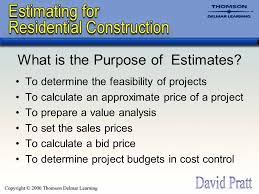 How To Prepare An Estimate Chapter 1 Introduction To Cost Estimates What Is An Estimate