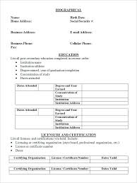 resume for degree students