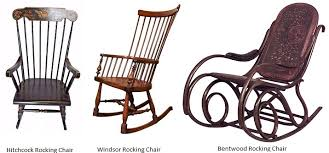 hitchcock windsor and bentwood rocking chairs