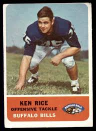 Amazon.com: 1962 Fleer # 17 Ken Rice Buffalo Bills (Football Card) GOOD  Bills Auburn: Collectibles & Fine Art