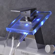 bathroom sinks and faucets. Color Changing LED Waterfall Bathroom Sink Faucet Sinks And Faucets O