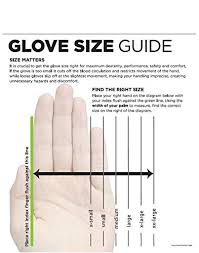 Large Gloves Size Chart Showa 727 Nitrile Unlined Chemical Resistant Glove X Small Pack Of 12 Pairs
