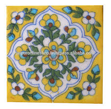 Small Picture Home Decor Ceramic Material Indian Vintage Blue Pottery Tiles