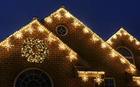 outdoor xmas lighting. Holiday Lighting - White Snowflake Lights Outdoor Xmas
