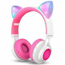 Ihip Bluetooth Headphones Light Up Bluetooth Headphones Riwbox Cat Ear Led Light Up Wireless Foldable Headphones
