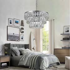 water crystal fringe 3 tier chandelier