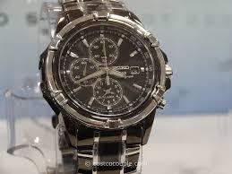 seiko seiko solar men s chronograph two tone black watch