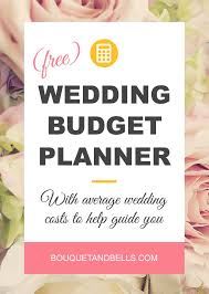 Wedding Planning Budget Wedding Budget Planner Free Downloadable Spreadsheet