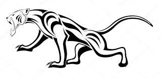Levhart Tribal Tetování Stock Vektor Flanker D 6474246