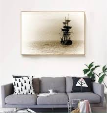 vintage ship sea voyage decorative paintings modular picture wall art canvas painting for living room no on voyage decoration wall art with vintage ship sea voyage decorative paintings modular picture wall